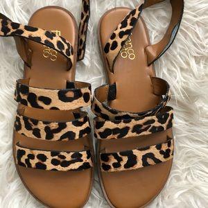 Cheetah print sandals